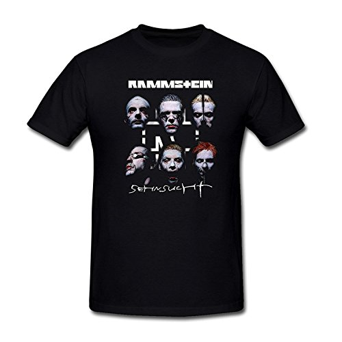 SEagleo2 Men's Six Faces Rammstein Band Sehnsucht Poster T-Shirt XXXLarge