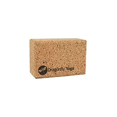 DragonFly Yoga Cork and Recycled EVA Foam Yoga Block, 4-Inch
