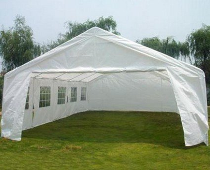 Quictent 20 X 26 White Party Wedding Tent Carport Canopy Car Shelter With Sidewalls