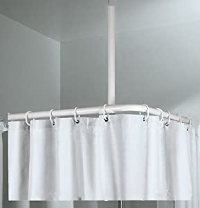 Ceiling Support For Corner Rod 60cm Chrome Home Kitchen