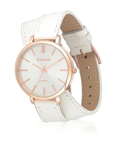Metropolitan Reloj de cuarzo  Blanco 36 mm