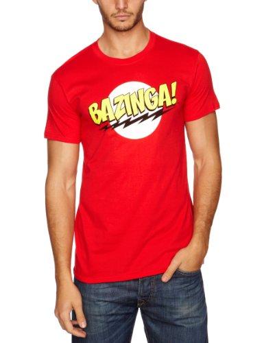 The Big Bang Theory - Bazinga, T-Shirt uomo, Rot - Rot, Medium