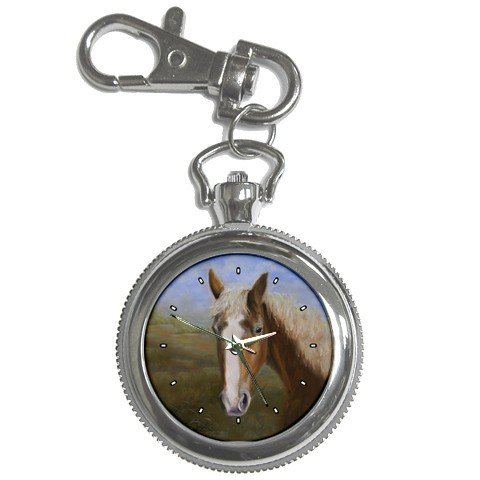 Limited Edition Violano Keychain Pocket Watch Draft Horse Stallion