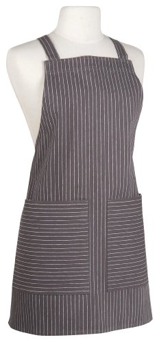Now Designs Comfort Apron, Pinstripe Granite