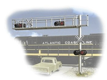 Buy Walthers – Working Grd. Crossing Signal – Two lane Cantilever grade xing dbl