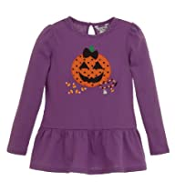 Hartstrings Girls Halloween Pumpkin Tunic Royal Lilac 3T