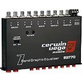 The Epicenter by AudioControl Bass restoration processor (Black) + Cerwin-Vega EQ770 - 7-Band Parametric Equalizer with Aux Input