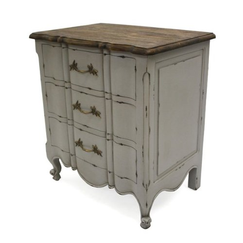 Genial French Shabby Chic Furniture Mercia Grey Rustic Bedside Cabinet Table