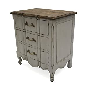 french shabby chic furniture mercia grey rustic bedside cabinet table