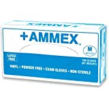 Ammex VPF Vinyl Glove, Medical Exam, Latex Free, Disposable, Powder Free, Large (Box of 100)