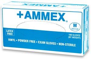 Ammex Exam Grade Vinyl Glove, Powder Free, 4 mils Thick, Lar
