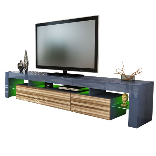 TV Stand Unit Lima V2 in Grey / Baltimore Black Friday & Cyber Monday 2014