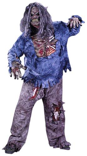 FunWorld Men's Complete 3D Zombie-Plus, Grey, One Size Costume