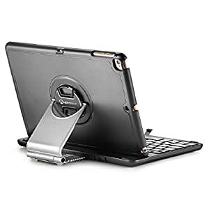 iPad Air Keyboard Case, iPad Air 2 Keyboard Case, New Trent Airbender 3.0 Wireless Bluetooth iPad Air Keyboard Case with Detachable Re-designed Durable Corners for Apple iPad Air/iPad Air 2 - Black