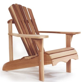 Western Red Cedar Wood Outdoor Patio Adirondack Chair