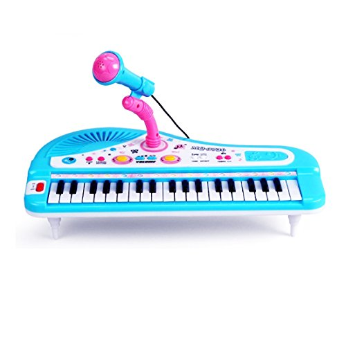 Sanmersen-Kids-Electronic-Organ-Keyboard-Piano-37-Keys-with-Microphone-Mike-Rock-Children-Beginner-Musical-Educational-Toy-Gift