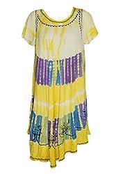 Indiatrendzs Women's Rayon Midi Dress Yellow Causal Wear Dresses