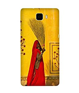 Yellow Wall Back Cover Case for Huawei Honor 7