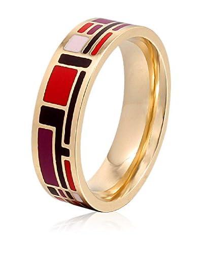 ROSE SALOME JEWELS Ring R002S vergoldeter Stahl 18 Karat