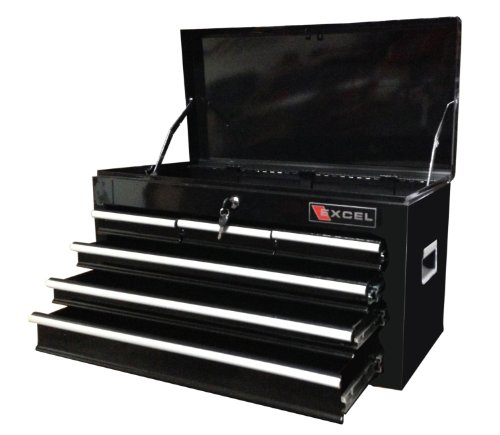 Excel TB2040BBSA-Black 26-Inch Steel Chest, Black