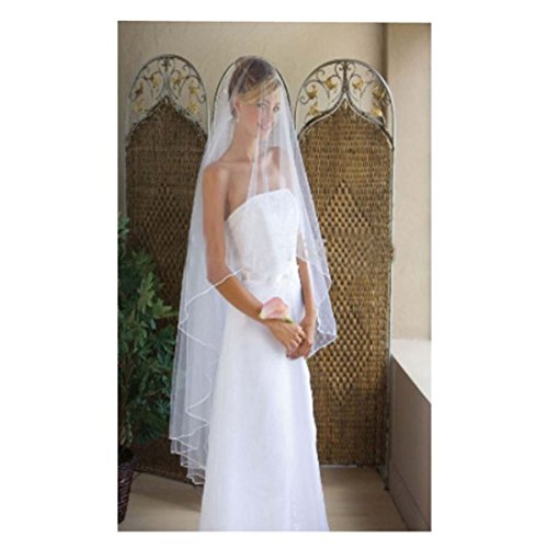 Sunweddingdress Long Lace Birdcage Bridal Veils Wedding Cathedral Long Veil(White)