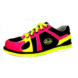 Linds Womens Leah Bowling Shoes (10 M US, Black/Pink/Yellow)