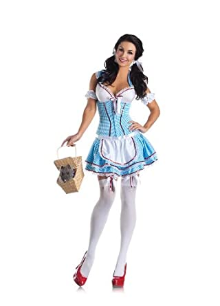 Sexy Dorothy Kansas Cutie Body Shaper Costume Dress Adult