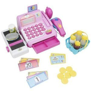 Just Like Home Electronic Cash Register - Pink
