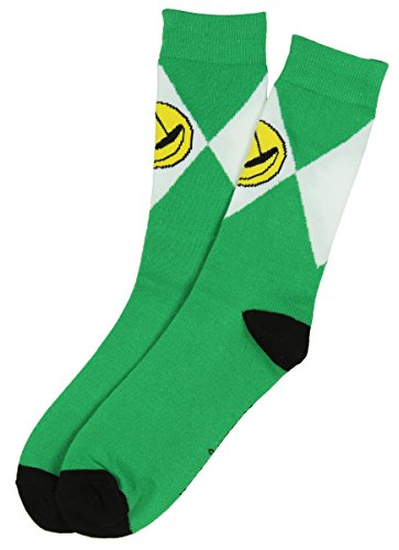 Mighty Morphin Power Rangers Mens Crew Socks (Green) 10-13 (Power Rangers Green Tshirt compare prices)