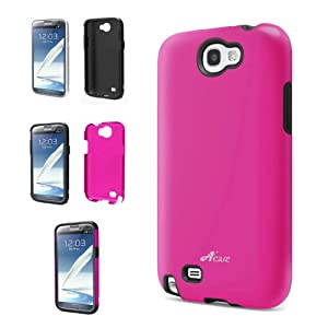 Acase Superleggera Samsung Galaxy PRO Dual Layer Protection Case AT&T, T-Mobile and Verizon Samsung Galaxy (Note 2, Pink)