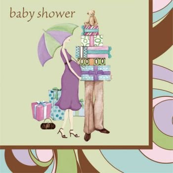 Parenthood Baby Shower 3-Ply Beverage Napkins 16 Per Pack