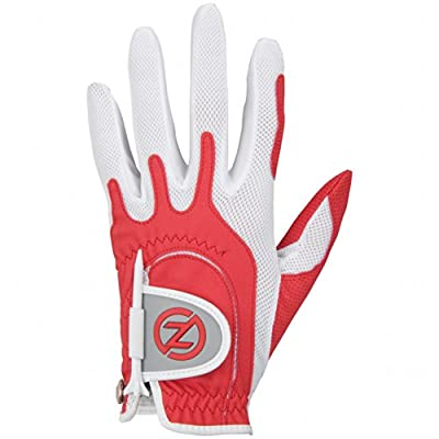 Zero Friction Ladies' Compression-Fit Synthetic Golf Gloves, Universal Fit One Size