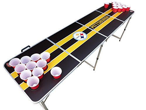 Pittsburgh Steelers Beer Pong Table with Predrilled Cup Holes at Steeler Mania