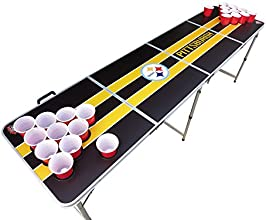 Pittsburgh Steelers Beer Pong Table with Predrilled Cup Holes