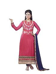 Parisha Cambric Cotton Pink Women's Chudidar 4NZK908