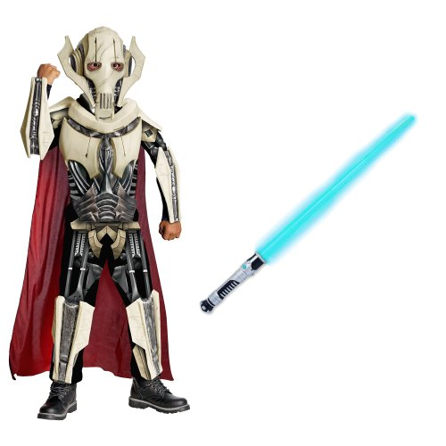 [Star Wars/General Grievous Deluxe Child Costume With Blue Lightsaber, (S)] (Star Wars General Grievous Child Costumes)