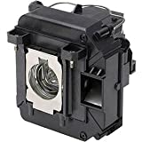 Qcoo ELPLP57 V13H010L57 Replacement Lamp With Housing For Projector Epson 450W 460 EB-440W EB-450W EB-450Wi EB... - B01CCRYMLG