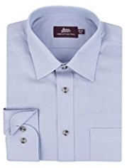 Pure Cotton Slim Fit Twill Poplin Shirt