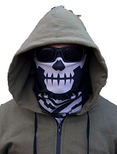 Milspec Monkey MSM SKULL FACE Mask Multi Wrap Head Gear – Urban Black