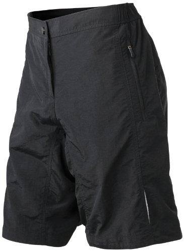 Damen Sport Shorts Bike Shorts schwarz  black  Large