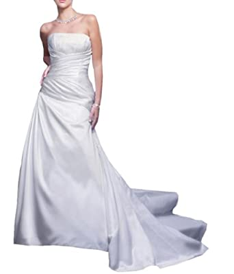 Jeen wedding dress designer elegant ruched for Amazon designer wedding dresses