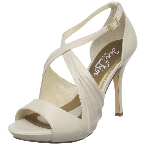 Jen + Kim for Coloriffics Women's Luna Platform Sandal,Ivory,7.5 M US