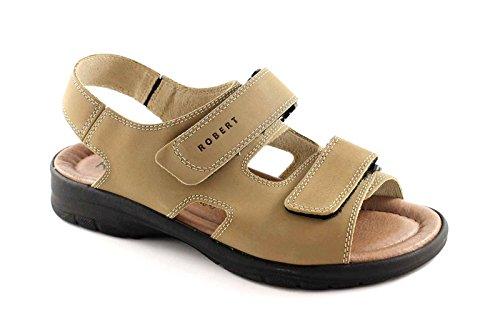 ROBERT 03310 sabbia sandali uomo strappi comfort pelle 41
