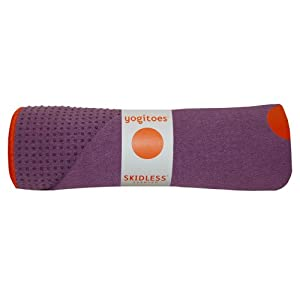 Yogitoes Skidless Premium Mat Size Yoga Towel (Purple)