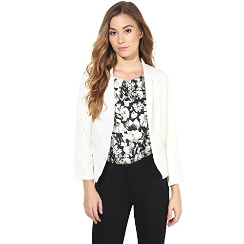 Darling Women's 3/4th Sleeve Formal Shrug (DSHRUG70001OW_OffWhite_Medium)
