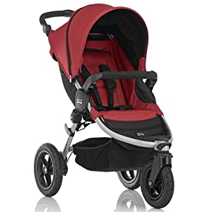 Britax B-Motion 3 Lightweight Stroller includes Bumper Bar and Raincover (Neon Chili)