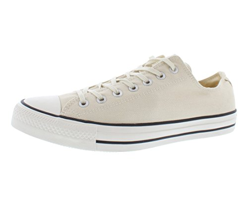 CONVERSE Unisex Chuck Taylor Low Top Sneaker (White 8.5 M)