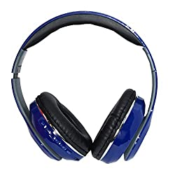 Muren 4 in 1 Blue Headphones (with Bluetooth/Aux/FM/SD Card/Microphone for calling)