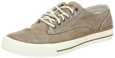 Diesel Women's MARCY W Fashion Sneaker,Brown/Silver,10 M US