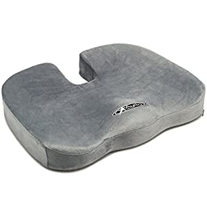 Aylio Orthopedic Comfort Foam Coccyx Seat Cushion for Lower Back, Tailbone and Sciatica Pain Relief